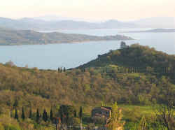 Lake Trasimeno seen from Perugia